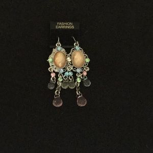 Jewelry - Gorgeous multi color pastel drop earrings.